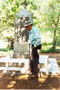 Memorial at mass grave site in Zagare