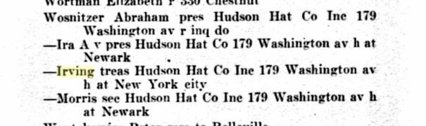 1926 Hudson Hat Co. Employees