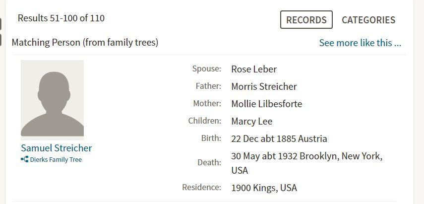 Sam Streicher Death Info