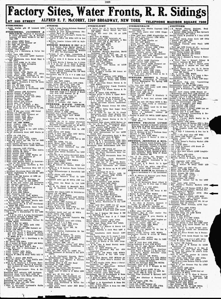 William Leber 1917 Directorh Listing