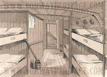 A Steerage Deck around 1890