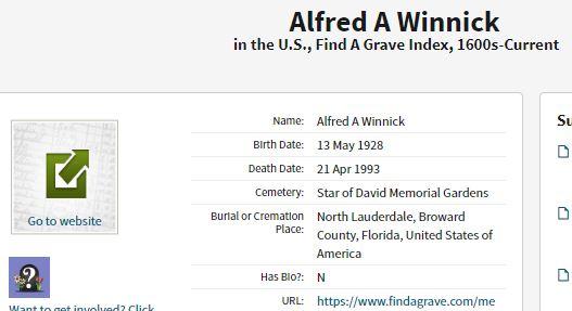 Archie Winnick Death information