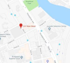 Map showing Zucker address in Bridgeport, CT