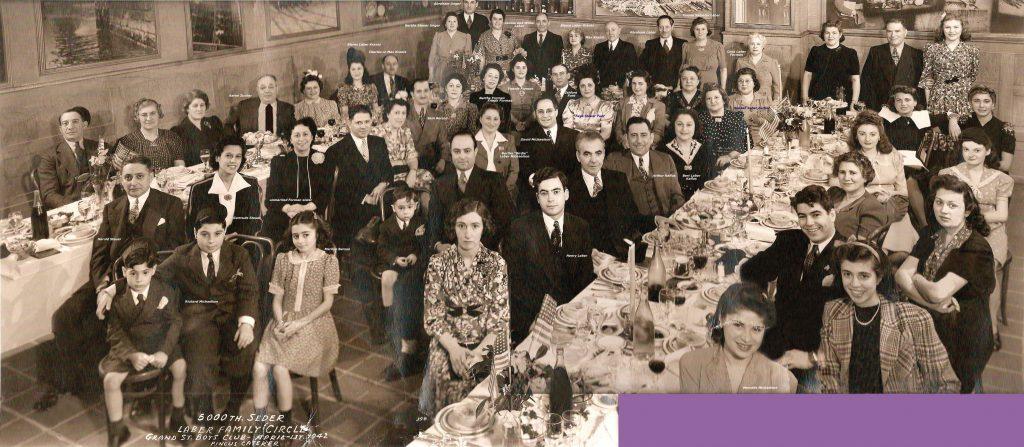 Leber Family Seder, 1942
