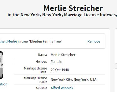 Merlie and Archie Marriage License
