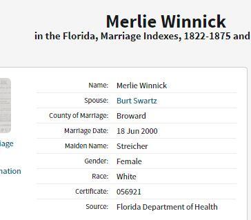 Merlie and Bur Marriage License