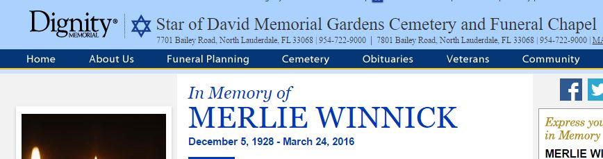 Merlie Death information
