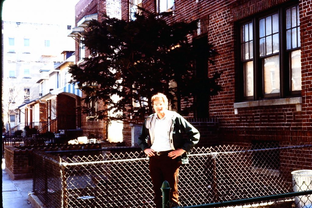 Ira in front of 2054 78th Street