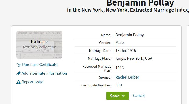 Ben and Ray's Marriage Index