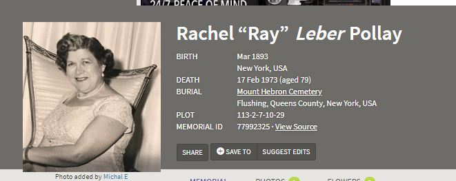 Ray's Death Information