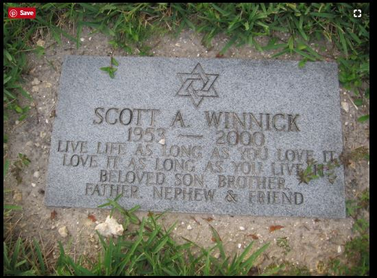 Scott Winnick Gravestone