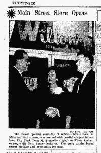 Wilton Store Opening Announcement