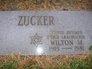 Wilton Zucker Gravestone