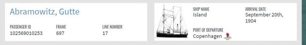 Ship information for Gutte Abramowitz