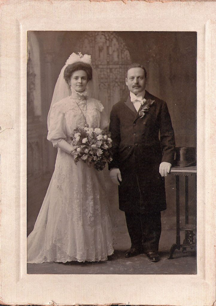 Gussie and Harvey Blieden's wedding photo