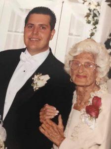 Birdie at her great-grandson's wedding