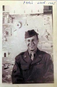 Peter - Army Portrait taken in Paris 1945