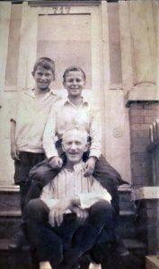 Peter, Rudy and Morris Feldman in 1920