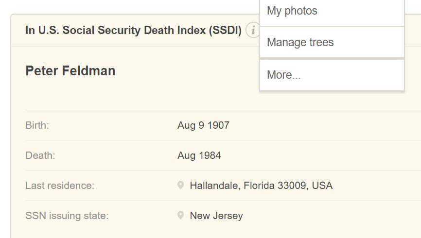 Peter Feldman Death Info