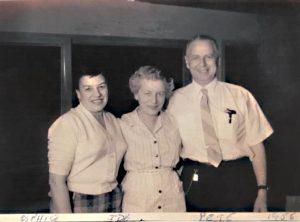 Sohpie, Ida, and Peter in 1956