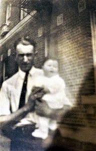 Ben Feldman holding niece, Essie Rosenberg