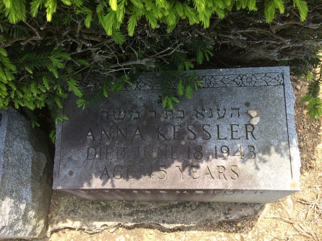 Anna Feldman Kessler Grave