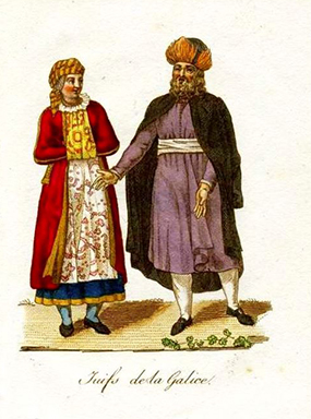 Traditional Dress of Galician (Brody) Jews in 1821