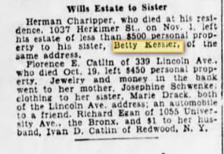 Herman Leaves Estate to Sister